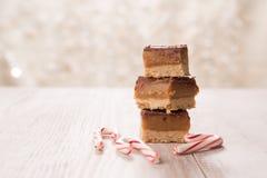 Festins de Noël faits par maison avec des cannes de sucrerie image stock