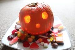 Festins de sucrerie de potiron de vacances de Halloween photos stock