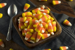 Festins doux et sucrés de bonbons au maïs Photographie stock libre de droits