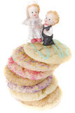Festins faits maison de jour du mariage de biscuits images libres de droits