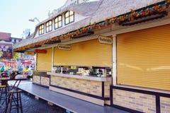 festiva的慕尼黑啤酒节木房子:埃福特,图林根,毒菌 免版税库存图片