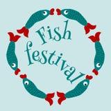 Festiva de los pescados stock de ilustración