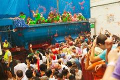 Festiva van La Tomatina royalty-vrije stock afbeeldingen