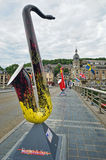 Festivais de música do saxofone do Europa Imagem de Stock