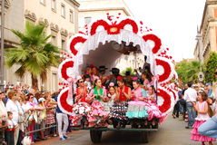 Festivais - a peregrinação do EL Rocio Imagem de Stock Royalty Free