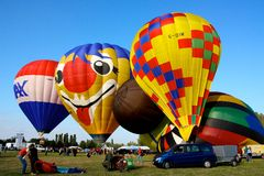 Festival 2008 dos balões de ar quente de Ferrara Fotografia de Stock