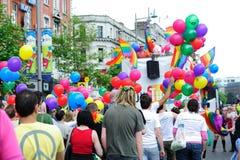 Festival 2010 di orgoglio di Dublino LGBTQ Fotografie Stock