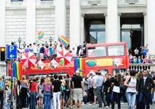 Festival 2010 di orgoglio di Dublino LGBTQ Fotografia Stock Libera da Diritti