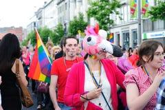 Festival 2010 do orgulho de Dublin LGBTQ Imagens de Stock