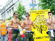 Festival 2010 do orgulho de Dublin LGBTQ Imagem de Stock