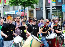 Festival 2010 do orgulho de Dublin LGBTQ Foto de Stock