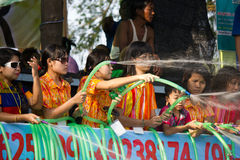 Festival 2012 da água em Mandalay, Myanmar Imagens de Stock