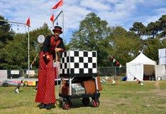 Festival 2012 de Buskers du monde - feuilleté principal image libre de droits