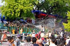 Festival 2012 de l'eau dans Myanmar Photos stock