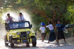 Festival 2012 de l'eau dans Myanmar Image libre de droits