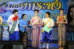 Festival 2012 de Loy Krathong de la competencia de belleza Fotos de archivo libres de regalías