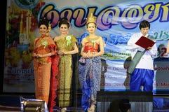 Festival 2012 de Loy Krathong de la competencia de belleza Imagenes de archivo