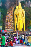 Festival 2012 de Thaipusam: Amanhecer e warm up Fotos de Stock
