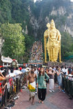 Festival 2012 de Thaipusam: Dedique el peregrinaje de la conclusión Fotografía de archivo libre de regalías
