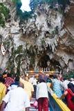Festival 2012 de Thaipusam: El entrar la cueva Fotos de archivo