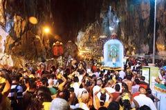 Festival 2012 de Thaipusam: Em cavernas de Batu Imagem de Stock