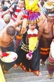 Festival 2012 de Thaipusam: Peregrino total de la dedicación Imagen de archivo