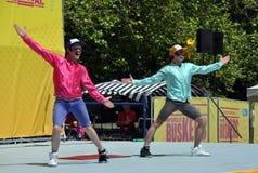 Festival 2012 dei Buskers del mondo - signori del puntone Fotografia Stock Libera da Diritti