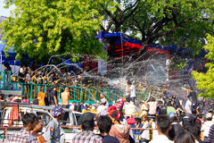 Festival 2012 del agua en Myanmar Fotos de archivo