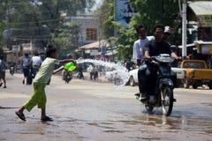 Festival 2012 del agua en Myanmar Imagen de archivo libre de regalías