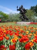 Festival 2012 del tulipano di Ottawa - statua olimpica Fotografie Stock Libere da Diritti