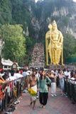 Festival 2012 di Thaipusam: Dedichi il pellegrinaggio di conclusione fotografia stock libera da diritti
