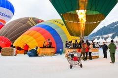 Festival 2012 do balão de ar quente, Switzerland Fotografia de Stock Royalty Free