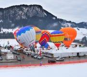 Festival 2012, Suiza del globo del aire caliente Imágenes de archivo libres de regalías