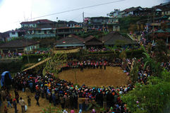 Festival. 5 mountain in magelang city central java indonesia Royalty Free Stock Photography
