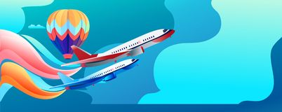 Festival aéreo da bandeira do conceito ilustração do vetor