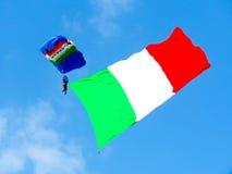 Festival aéreo dos paramilitares Tirrenia, Pisa, Itália, o 11 de setembro de 2016 Imagens de Stock Royalty Free