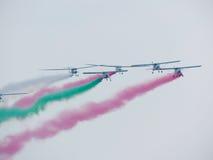 Festival aéreo Tricolor das setas Tirrenia, Pisa, Itália, o 11 de setembro, 2 Imagens de Stock Royalty Free