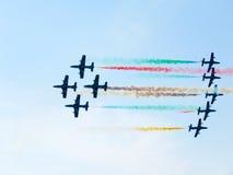 Festival aéreo Tricolor das setas Tirrenia, Pisa, Itália, o 11 de setembro Fotos de Stock Royalty Free