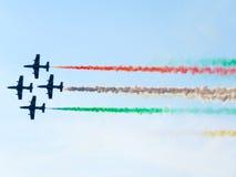 Festival aéreo Tricolor das setas Tirrenia, Pisa, Itália, o 11 de setembro, 2 Fotografia de Stock