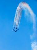 Festival aéreo Tricolor das setas Tirrenia, Pisa, Itália, o 11 de setembro, 2 Fotografia de Stock Royalty Free