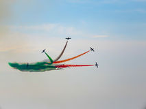 Festival aéreo Tricolor das setas Tirrenia, Pisa, Itália, o 11 de setembro, 2 Foto de Stock