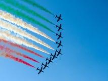 Festival aéreo Tricolor das setas Tirrenia, Pisa, Itália, o 11 de setembro, 2 Fotos de Stock Royalty Free