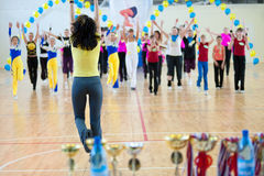 Festival of aerobics and fitness Stock Images