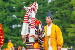 Festival of The Ages, Kyoto, Japan. Kyoto, Japan - October 22, 2016: Festival of The Ages, an ancient costume parade held annually. Each participant dressed in royalty free stock image
