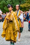 Festival of The Ages, Kyoto, Japan. Kyoto, Japan - October 22, 2016: Festival of The Ages, an ancient costume parade held annually. Each participant dressed in stock image