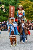 Festival of The Ages, Kyoto, Japan. Kyoto, Japan - October 22, 2016: Festival of The Ages, an ancient costume parade held annually. Each participant dressed in royalty free stock photo