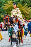 Festival of The Ages, Kyoto, Japan. Kyoto, Japan - October 22, 2016: Festival of The Ages, an ancient costume parade held annually. Each participant dressed in stock photography