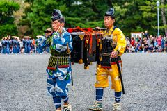 Festival of The Ages, Kyoto, Japan. Kyoto, Japan - October 22, 2016: Festival of The Ages, an ancient costume parade held annually. Each participant dressed in royalty free stock images
