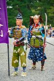 Festival of The Ages, Kyoto, Japan. Kyoto, Japan - October 22, 2016: Festival of The Ages, an ancient costume parade held annually. Each participant dressed in royalty free stock photos
