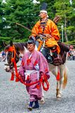 Festival of The Ages, Kyoto, Japan. Kyoto, Japan - October 22, 2016: Festival of The Ages, an ancient costume parade held annually. Each participant dressed in royalty free stock photography